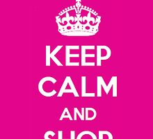 Keep Calm and Shop iPhone Case by chicgirl