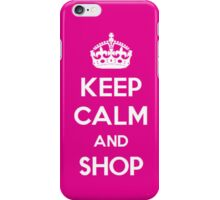 Keep Calm and Shop iPhone Case iPhone Case/Skin