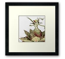 Blood devil flower Framed Print