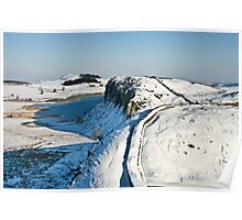 Winter on Hadrian's Wall at Highshield Crag Poster