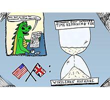 Assange and the Ecuadorian Embassy cartoon Photographic Print