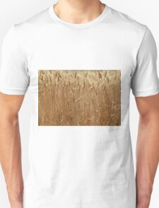 Details of a barley field with single spikes. Unisex T-Shirt