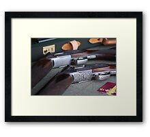 The gun shop Framed Print