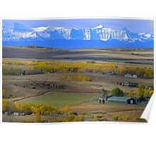 Fabulous Fall  in Foothills  Poster