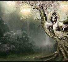 Sakura Mythic Dryad by Susan Schroder Arts