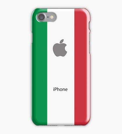 Italian flag + Apple logo iPhone Case/Skin