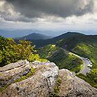 Blue Ridge Parkway - Asheville NC Craggy Gardens Overlook by Dave Allen