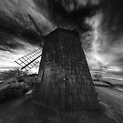Sag Harbor Windmill With Clouds by Rick Gold