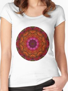 Fire Flower Mandala 6 Women's Fitted Scoop T-Shirt