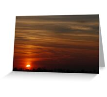 Fenland Sun Greeting Card
