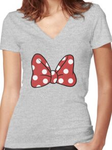 It's Minnie! Women's Fitted V-Neck T-Shirt