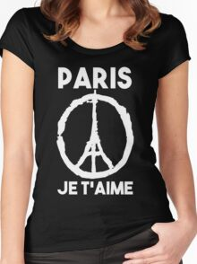 Paris Je t'aime - I LOVE YOU Women's Fitted Scoop T-Shirt