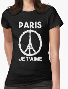 Paris Je t'aime - I LOVE YOU Womens Fitted T-Shirt