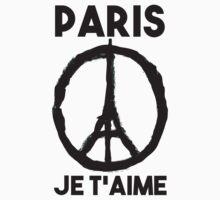 Paris Je t'aime - I LOVE YOU One Piece - Short Sleeve