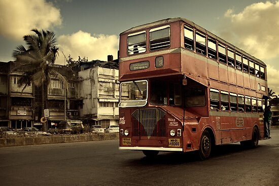 Bombay Bus by Michiel de Lange
