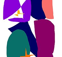 Purple Ribbon Orange Star Dark Night by masabo