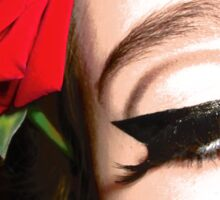 Roses and Eyeliner Sticker