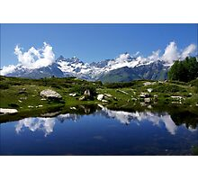 Mountain Lake Switzerland Photographic Print