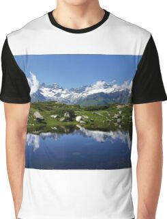 Mountain Lake Switzerland Graphic T-Shirt