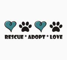 Rescue * Adopt * Love One Piece - Short Sleeve
