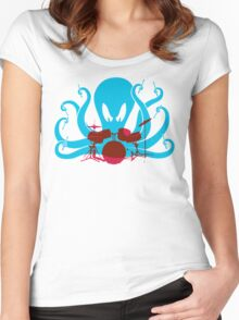 Octo Drummer Women's Fitted Scoop T-Shirt