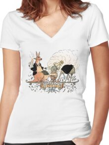Australia's climate policy coat of arms Women's Fitted V-Neck T-Shirt