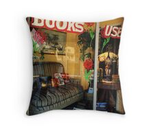 Used Books Throw Pillow
