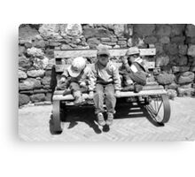 Three Italian Brothers-Pienza, Italy Canvas Print