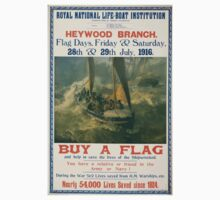 Royal National Life boat Institution Heywood Branch Flag days Friday Saturday 28th 29th July 1916 458 One Piece - Short Sleeve