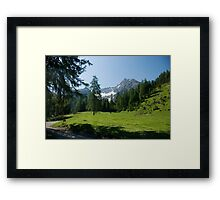 Hike to Griesbachalm Framed Print