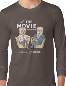 At the Movie Downloads with Malcolm and George Long Sleeve T-Shirt