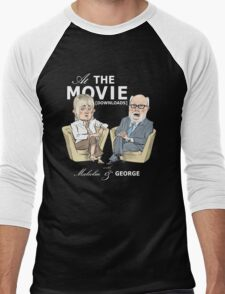 At the Movie Downloads with Malcolm and George Men's Baseball ¾ T-Shirt