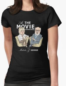 At the Movie Downloads with Malcolm and George Womens Fitted T-Shirt