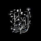 Black Tree of Life iPhone Case by Matt Aunger