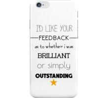Rachel Berry brilliant or outstanding? iPhone Case/Skin