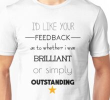 Rachel Berry brilliant or outstanding? Unisex T-Shirt