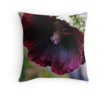 Dark purple flower Throw Pillow