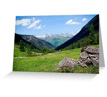 View over the mountain tops Greeting Card