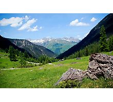 View over the mountain tops Photographic Print