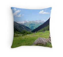 View over the mountain tops Throw Pillow