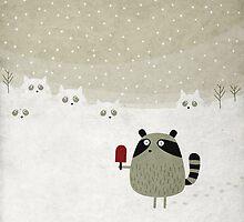Raccoon by fuzzorama