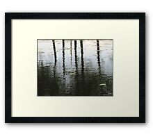 sad water Framed Print