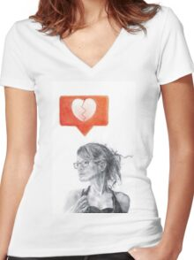 Another Song about Heartbreak Women's Fitted V-Neck T-Shirt