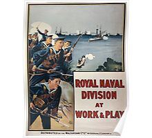 Royal Naval Division at work play 866 Poster