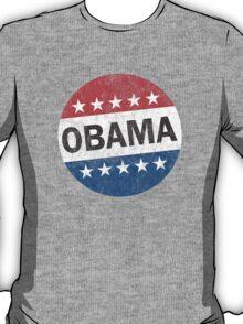 Vote Obama 2012 Vintage Button Shirt T-Shirt