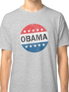 Vote Obama 2012 Vintage Button Shirt Classic T-Shirt
