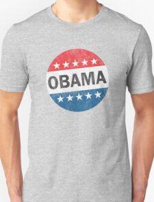 Vote Obama 2012 Vintage Button Shirt Unisex T-Shirt