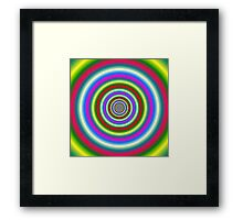 Rings in Red Yellow Blue and Green Framed Print