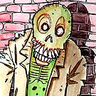 zombie against the wall by byronrempel
