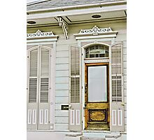 New Orleans off-white rowhouse Photographic Print
